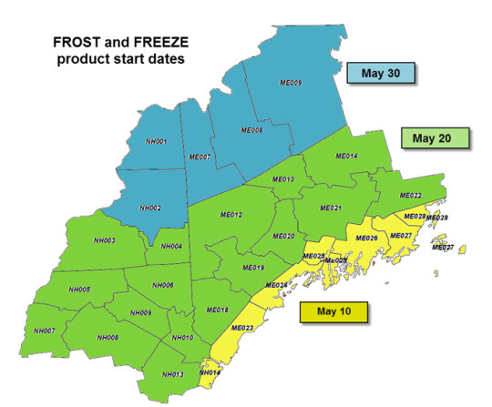 Frost and Freeze Dates
